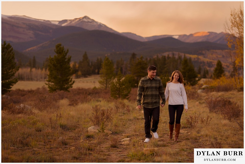 colorado mountains fall engagement photo session mountain valley