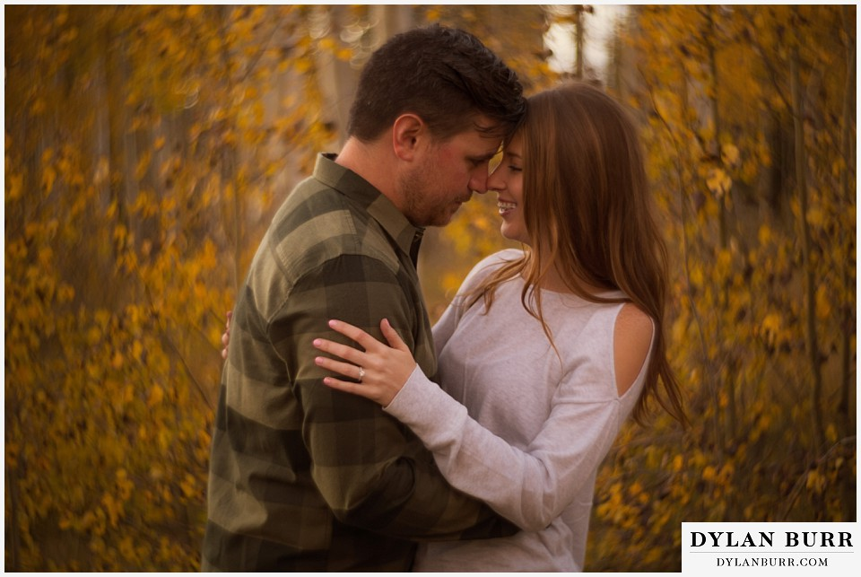 colorado mountains fall engagement photo session petzval kisses