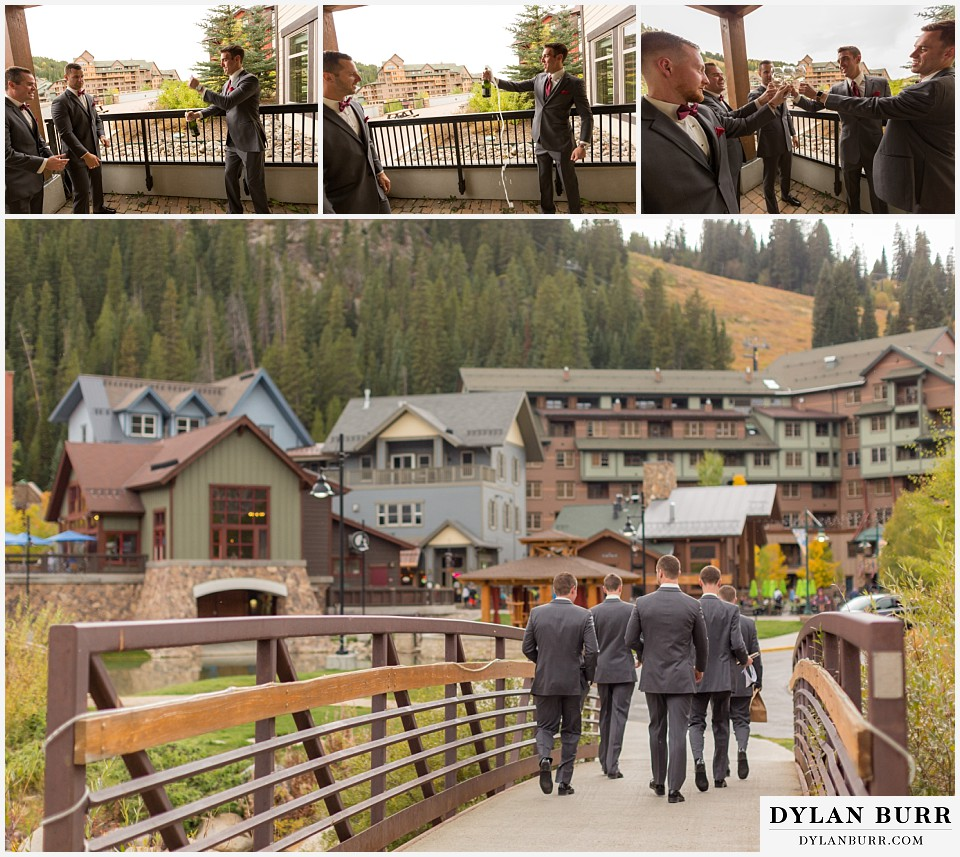 the lodge at sunspot wedding winter park groomsmen mountain village
