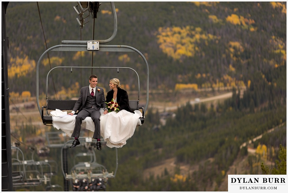 the lodge at sunspot wedding fall mountain wedding winter park on ski lift