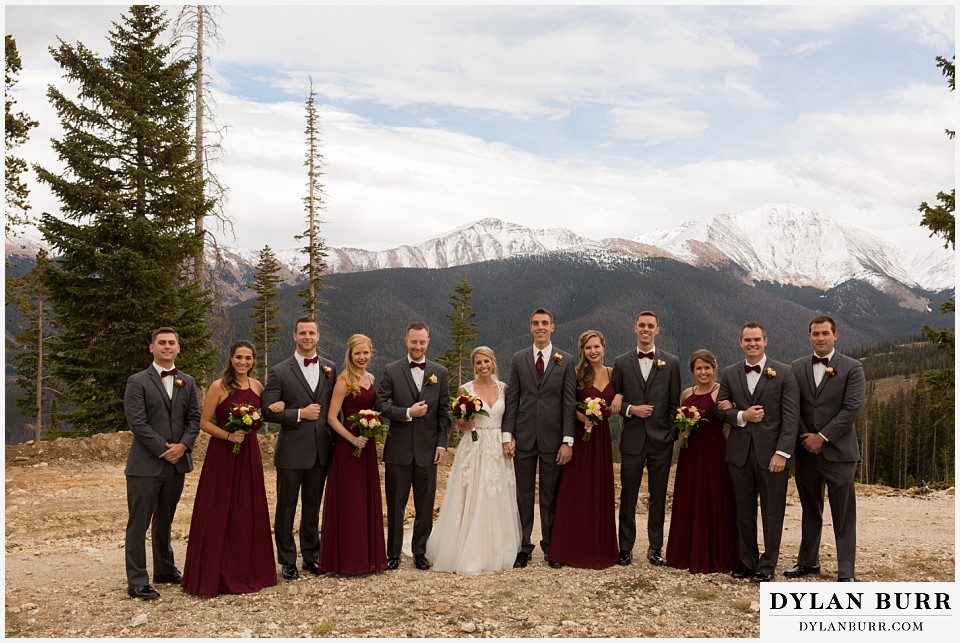 the lodge at sunspot mountain wedding fall mountain wedding winter park bridal party