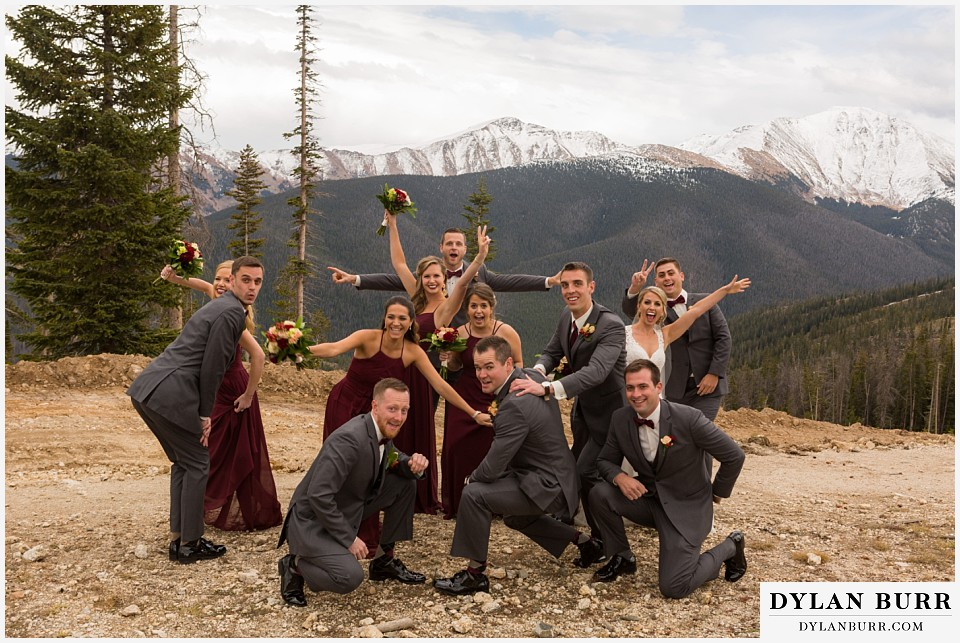 the lodge at sunspot mountain wedding fall mountain wedding winter park fun bridal party