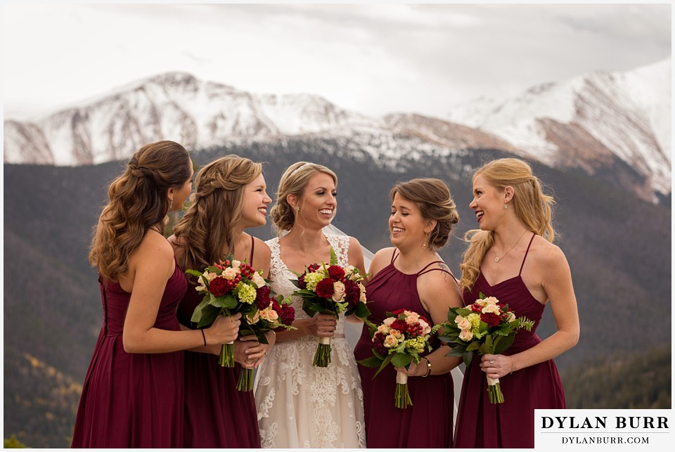 the lodge at sunspot wedding winter park fall mountain wedding bridesmaids