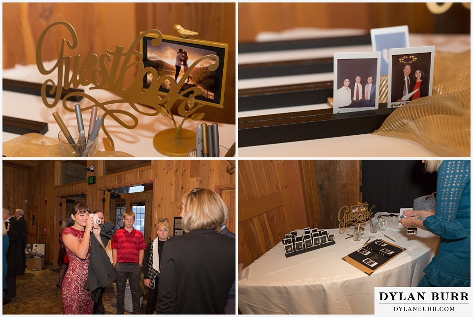 the lodge at sunspot wedding winter park wedding photo guestbooks
