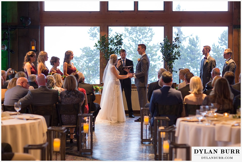 the lodge at sunspot wedding winter park wedding ceremony