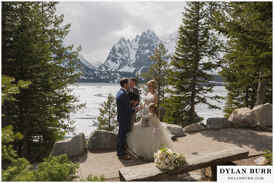 grand teton destination wedding Jenny Lake ceremony site