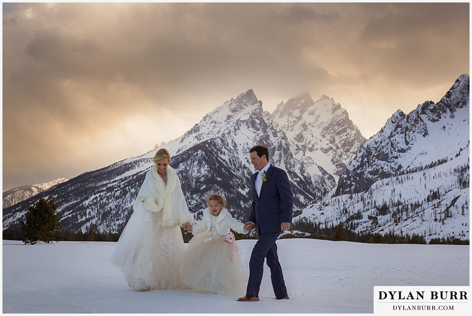 grand teton destination winter mountain wedding