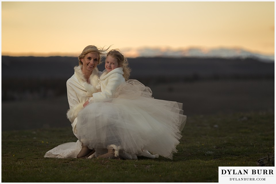 grand teton destination wedding mom and daughter