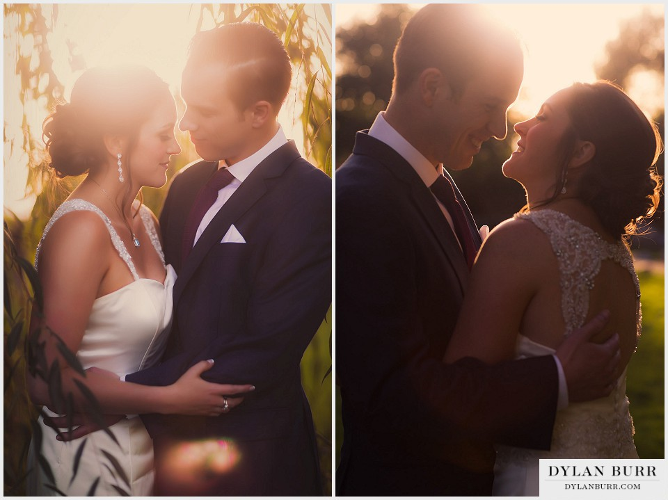 lionsgate center wedding couple sunset vintage