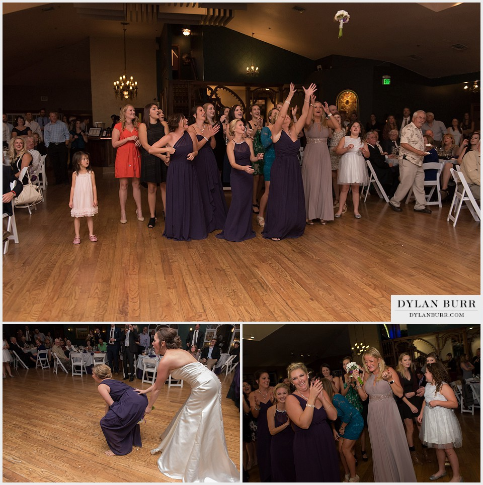 lionsgate gatehouse wedding bouquet toss football style
