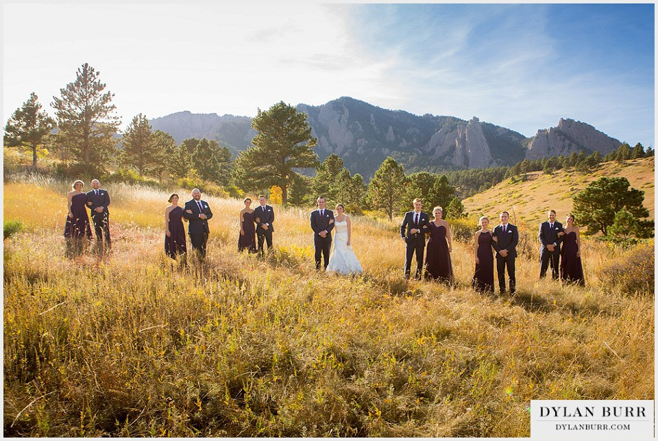 lionsgate gatehouse wedding cool bridal party photos flatirons