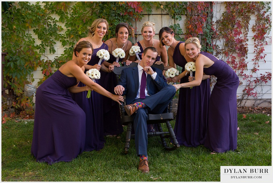 lionsgate gatehouse wedding fun bridal party photos bridesmaids groom