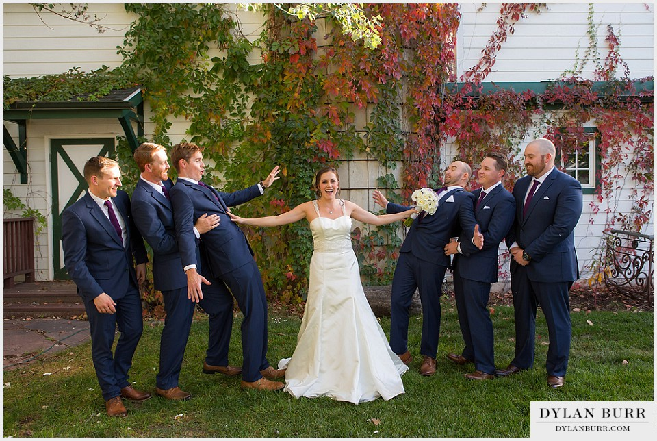lionsgate gatehouse wedding fun bridal party photos groomsmen bride