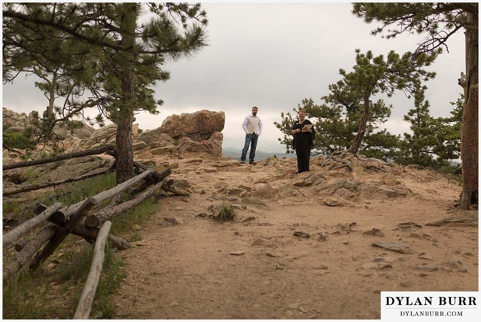 colorado mountain elopement lost gulch overlook wedding boulder view to top