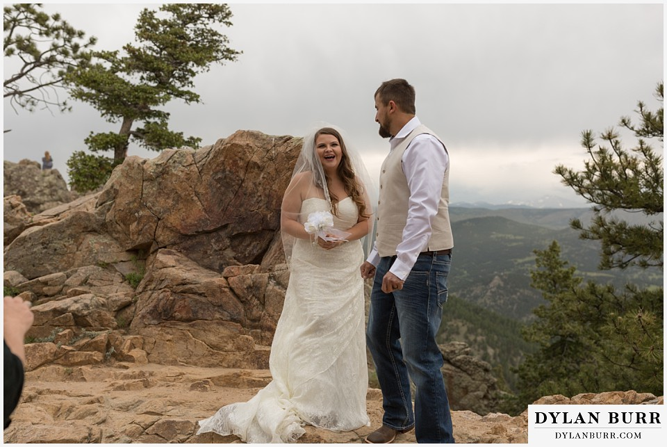 colorado mountain elopement lost gulch overlook wedding boulder co just married