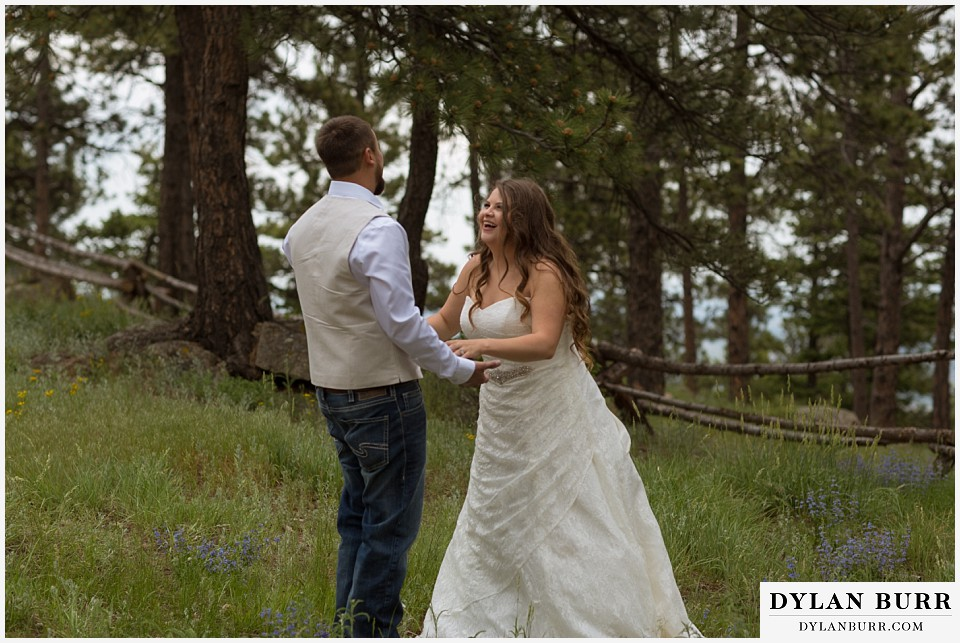 colorado mountain elopement lost gulch overlook wedding boulder co laughing