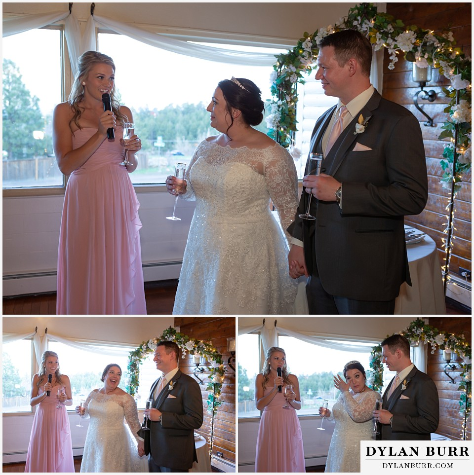 crystal rose wedding golden colorado maid of honor speech toast