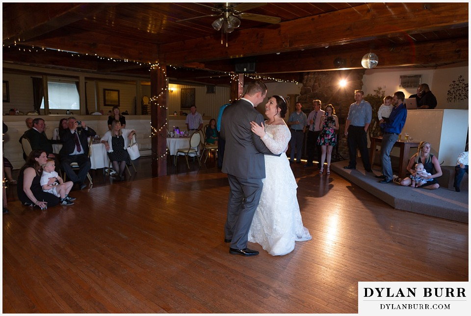 crystal rose wedding golden colorado bride and groom first dance