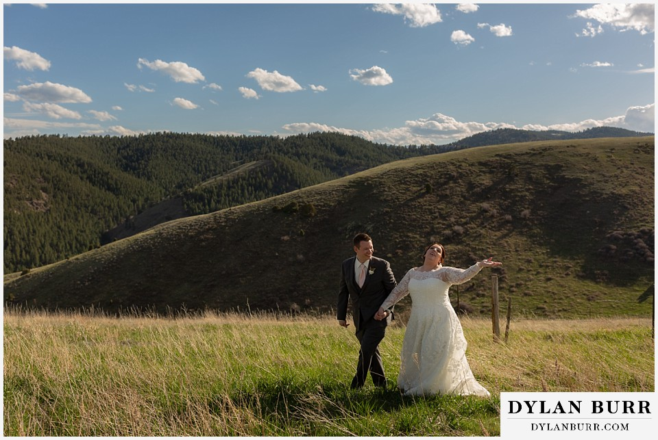 mother cabrini shrine wedding golden colorado bride and groom in mountains