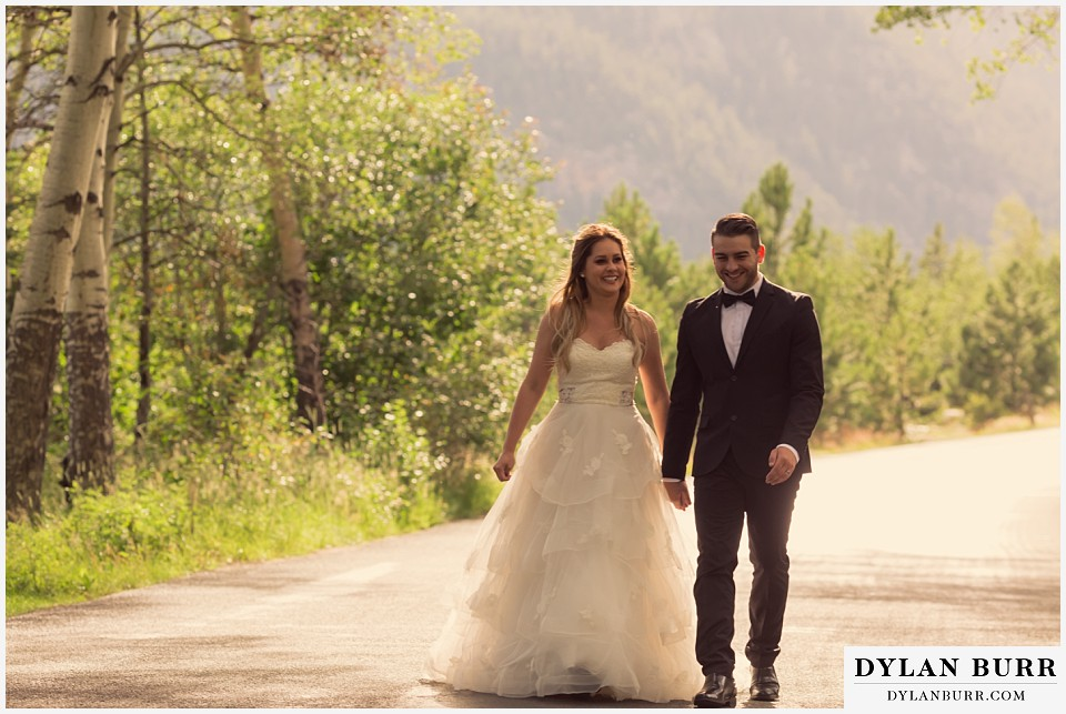 rocky mountain national park elopement adventure wedding happy couple