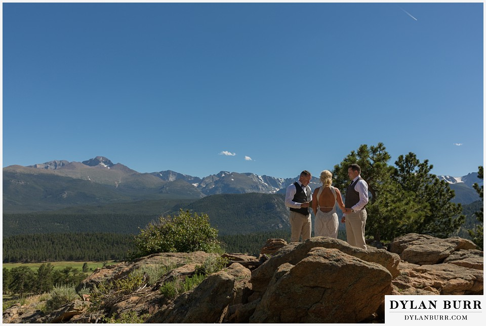 rocky mountain national park wedding elopement giant snowcapped mountains