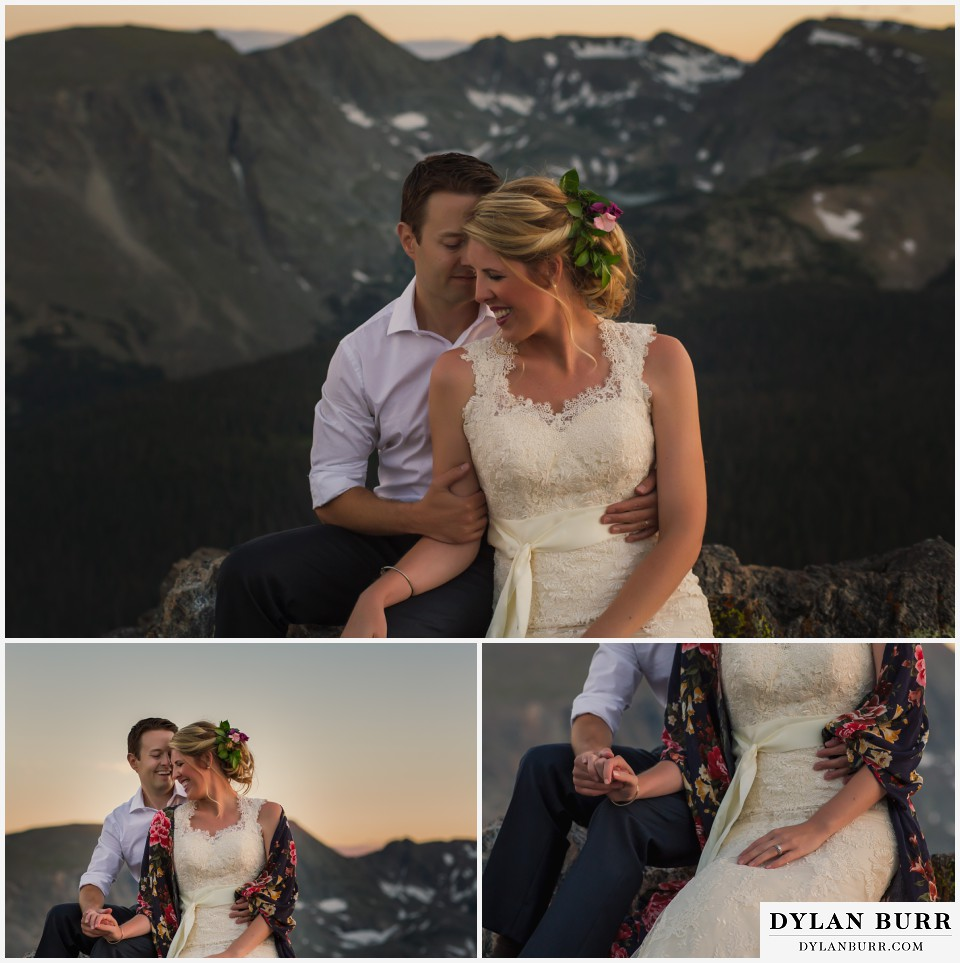 colorado mountain top wedding estes park wedding