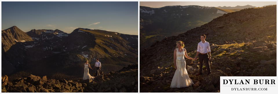 estes park wedding mountain top wedding sunset wedding photgraphy
