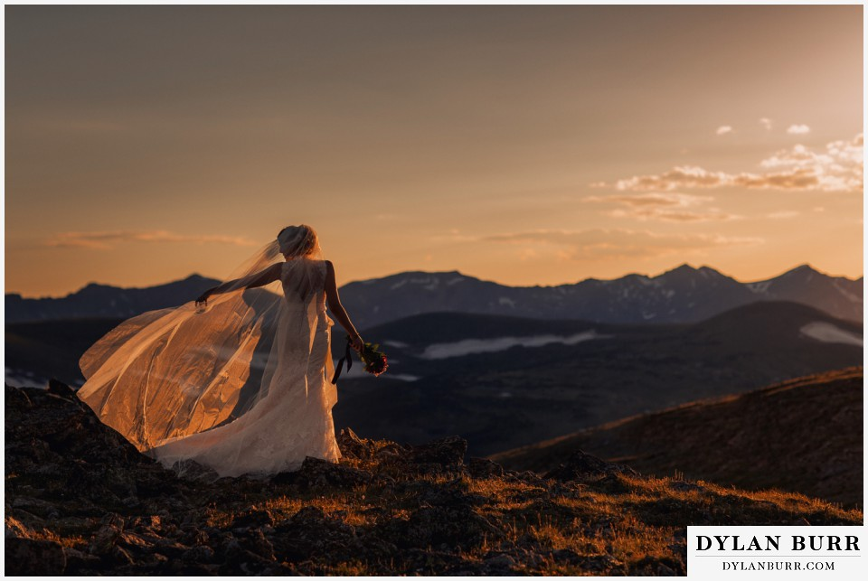 estes park wedding mountain top wedding sunset wedding photographer