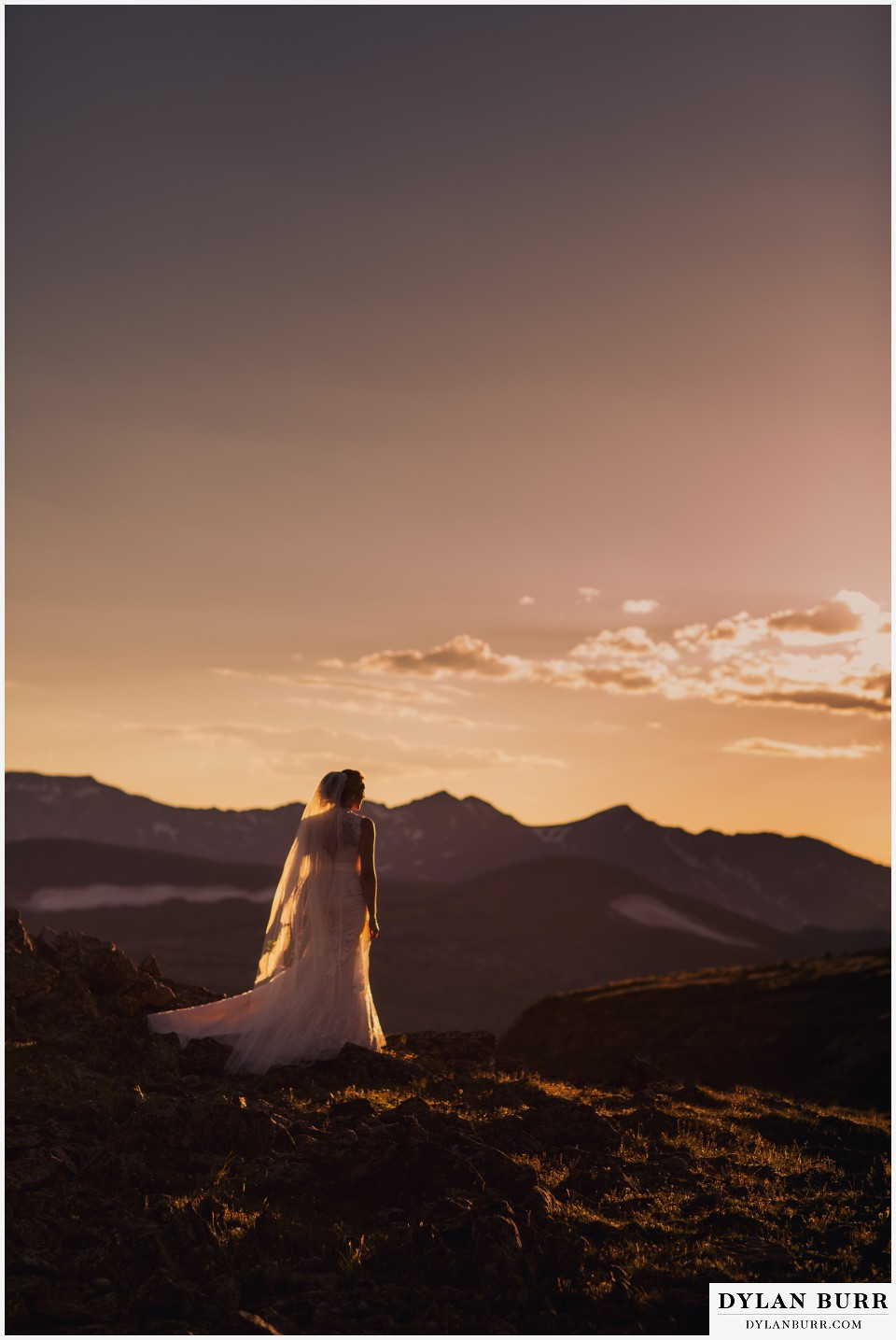 estes park wedding mountain top wedding sunset wedding photos