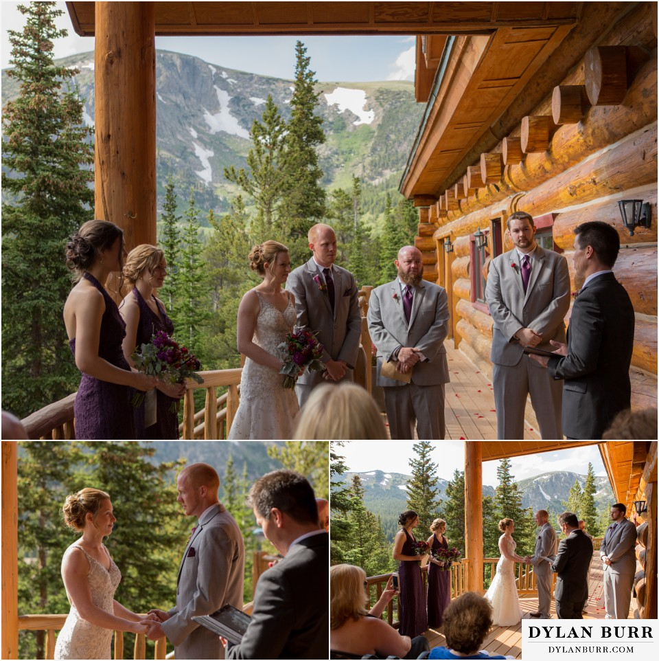 olorado mountain wedding ceremony silverlake lodge