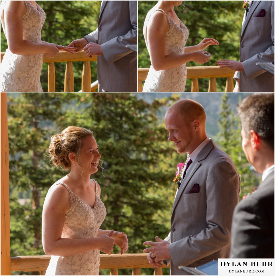 colorado mountain wedding ceremony vows silverlake lodge