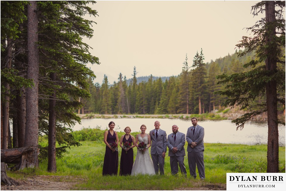 colorado mountain wedding silverlake lodge bridal party