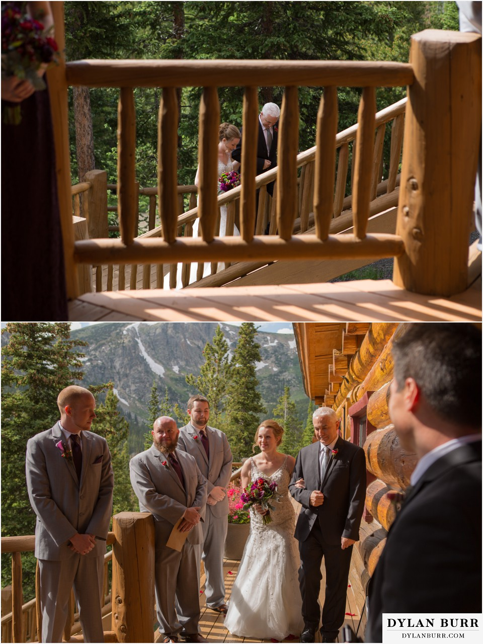 colorado mountain wedding silverlake lodge bride dad