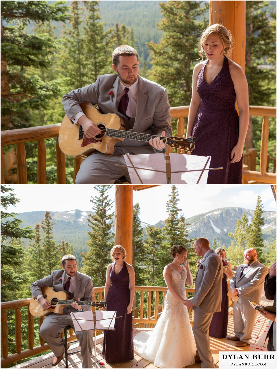 colorado mountain wedding silverlake lodge ceremony