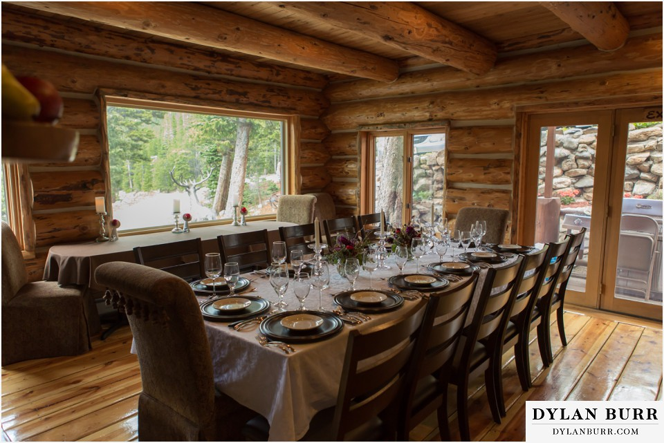colorado mountain wedding silverlake lodge dinner