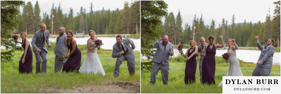 silverlake lodge fun bridal party photos idaho springs