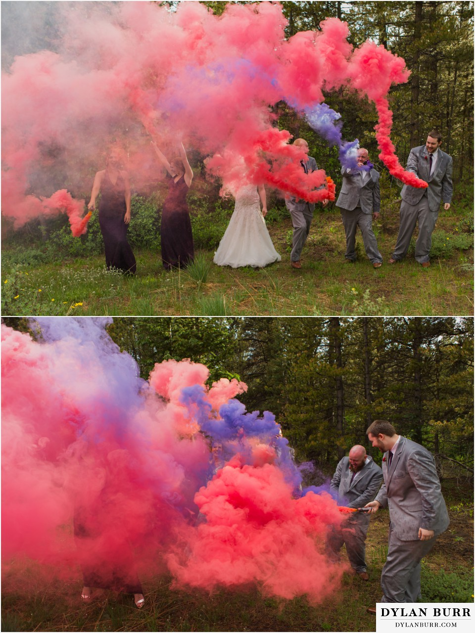 silverlake lodge wedding idaho springs colorado fun bridal party photos
