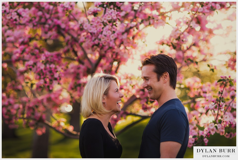colorado spring blossoms engagement photos