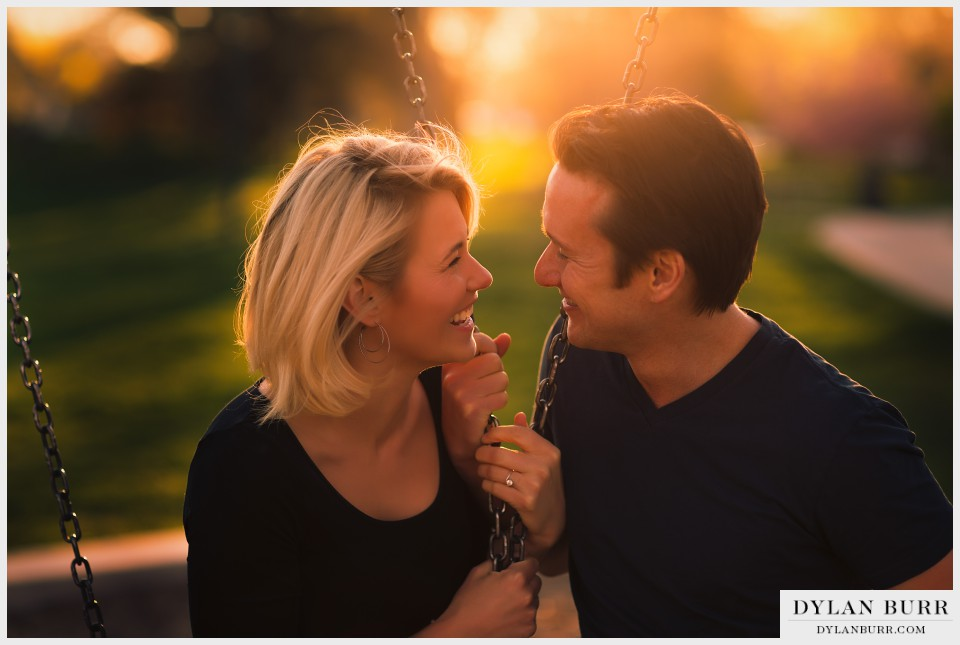 sunset colorado engagement photographer