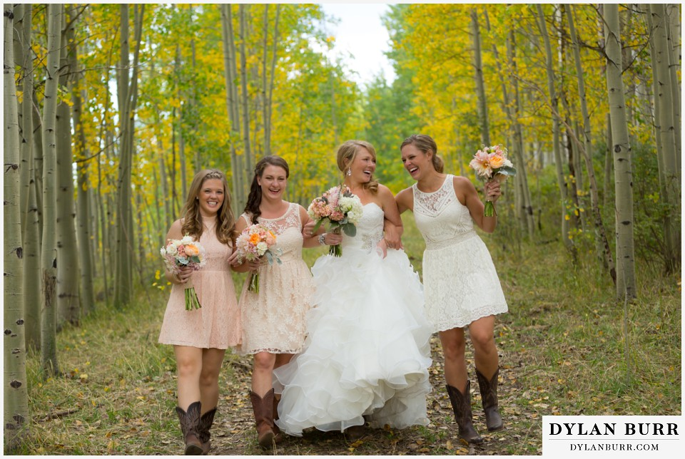coloado wedding venues silverpick lodge bridemaids