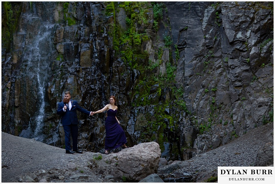 uncompahgre national forest colorado elopement wedding adventure bride and groom maid of honor and best man