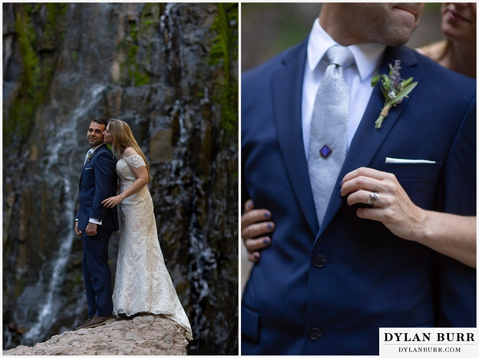 uncompahgre national forest colorado elopement wedding adventure bride and groom lavender wedding details