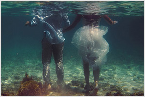 turks caicos destination wedding underwater session erin nic