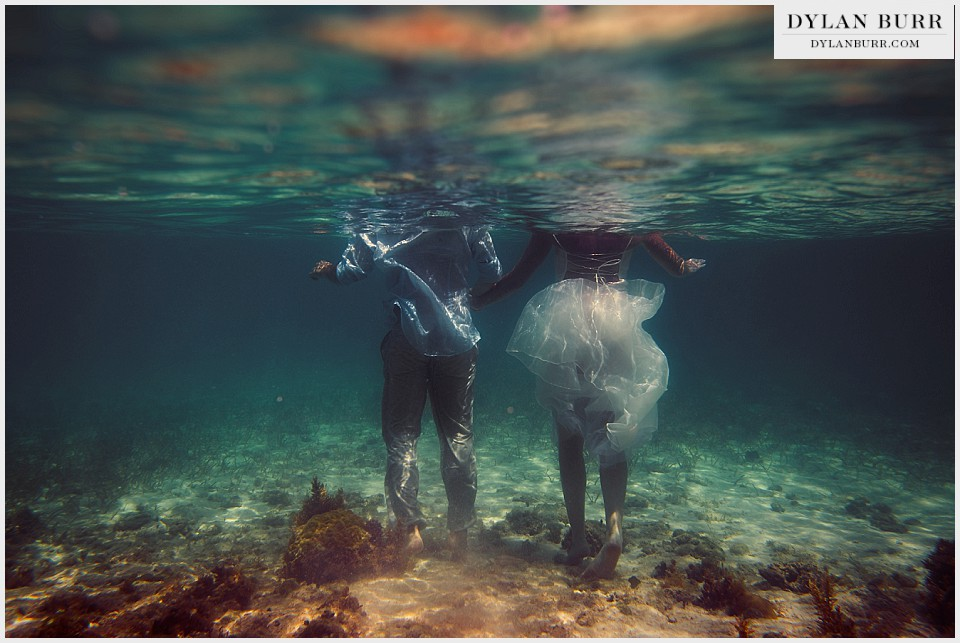 underwater wedding photography turks caicos