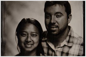 wedding tintype wet plate collodion portrait