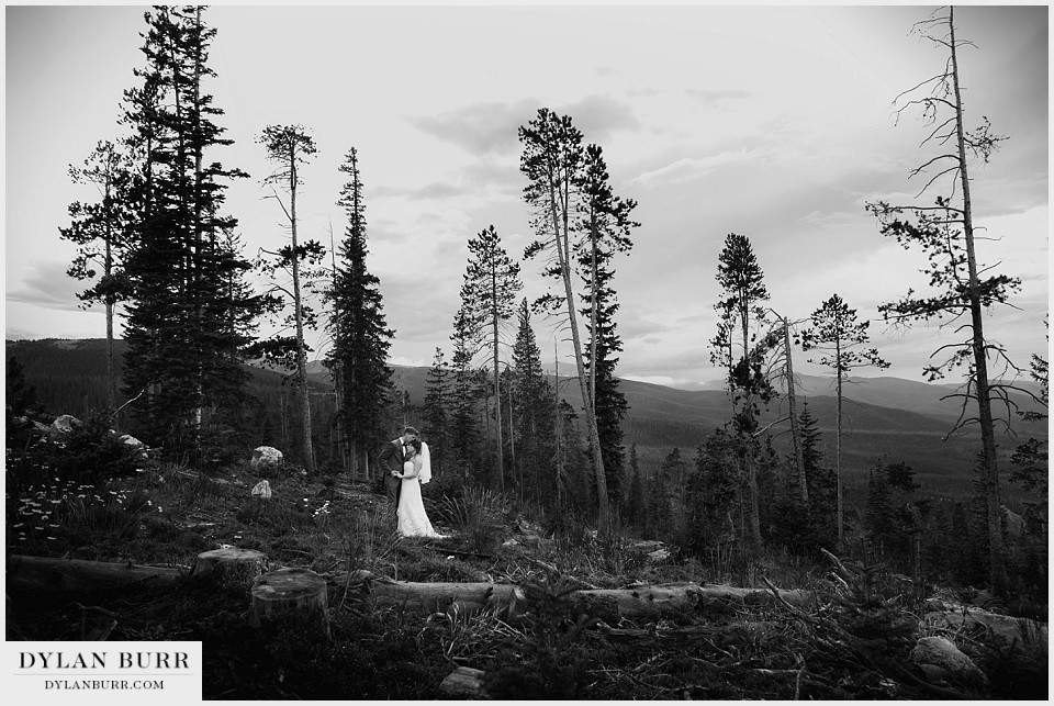 winter park co wedding black white bride groom fall lodge sunspot
