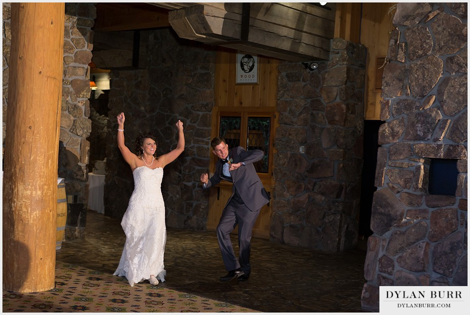 winter park wedding entering reception lodge sunspot