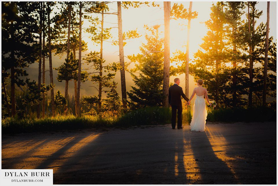winter park wedding mountain sunset photos