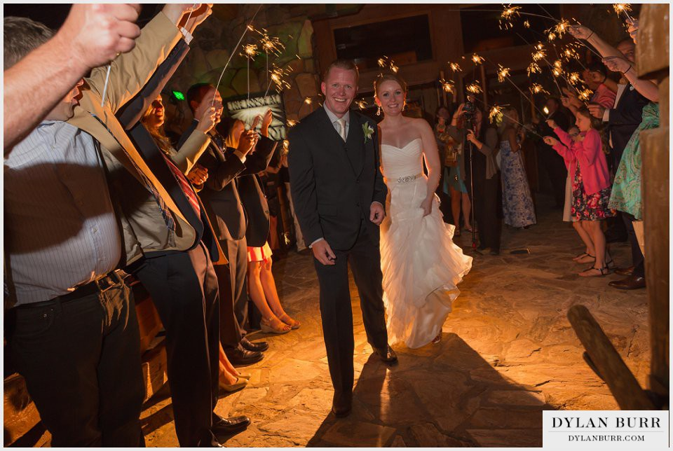 winter park wedding the lodge at sunspot grand exit sparklers