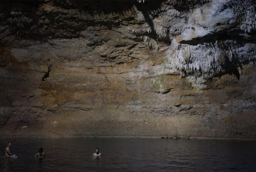 mexico underground cenote water level